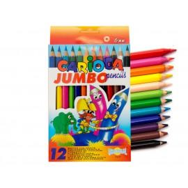 Creioane colorate mari groase jumbo 12 culori