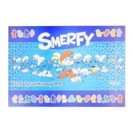 Bloc Desen A4 80 g Smerfy