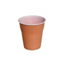 Pahare Plastic Bicolore 160 ml Maro