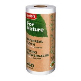 Lavete Universale din Bambus la Rola 40 buc For Nature Paclan