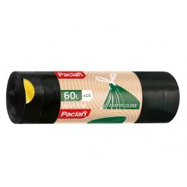 Saci Menajeri cu Snur 60 l Negri 15 buc Eco Line Paclan