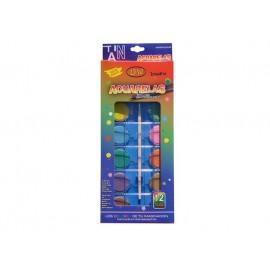 Acuarela Pastila 12 Culori Lux