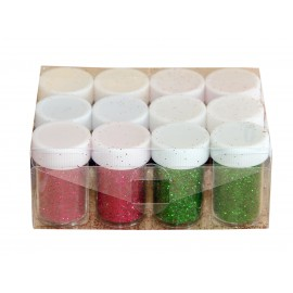 Borcanele cu sclipici 12 culori