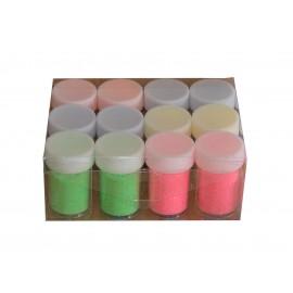Borcanele cu sclipici tub light 12 culori