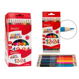 Creioane Colorate cu 2 Capete 12 Culori