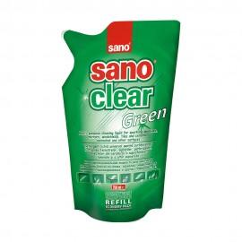 Detergent Geam Sano Clear Green Rezerva 750 ml