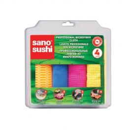 Lavete Profesionale din Microfibra Sano Sushi 4 buc